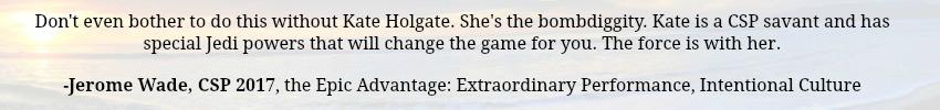 Kate Holgate CSP testimonial