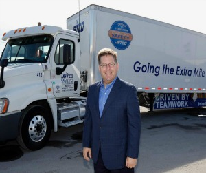 Brian Fieklow and one of his Jetco trucks