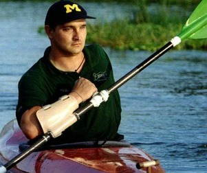 Paul's one-armed paddle invention